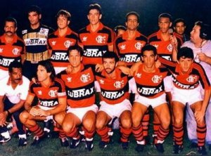 Foto Flamengo 1990 Bobô, Renato Gaucho, Zinho e CIA