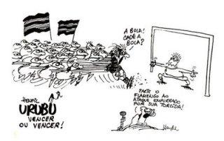 Henfil Torcida do Flamengo Empurra o time para frente